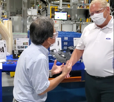 Premiere Ford Inspect CBBP's 3D Printed Auto Parts During Ford Motor's Factory Visit